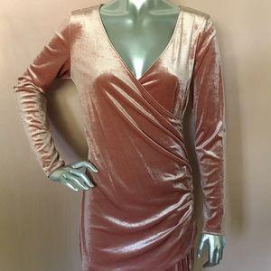 H&M Mini velvet long sleeve dress